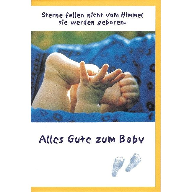 Glückwunschkarte Alles Gute zum Baby