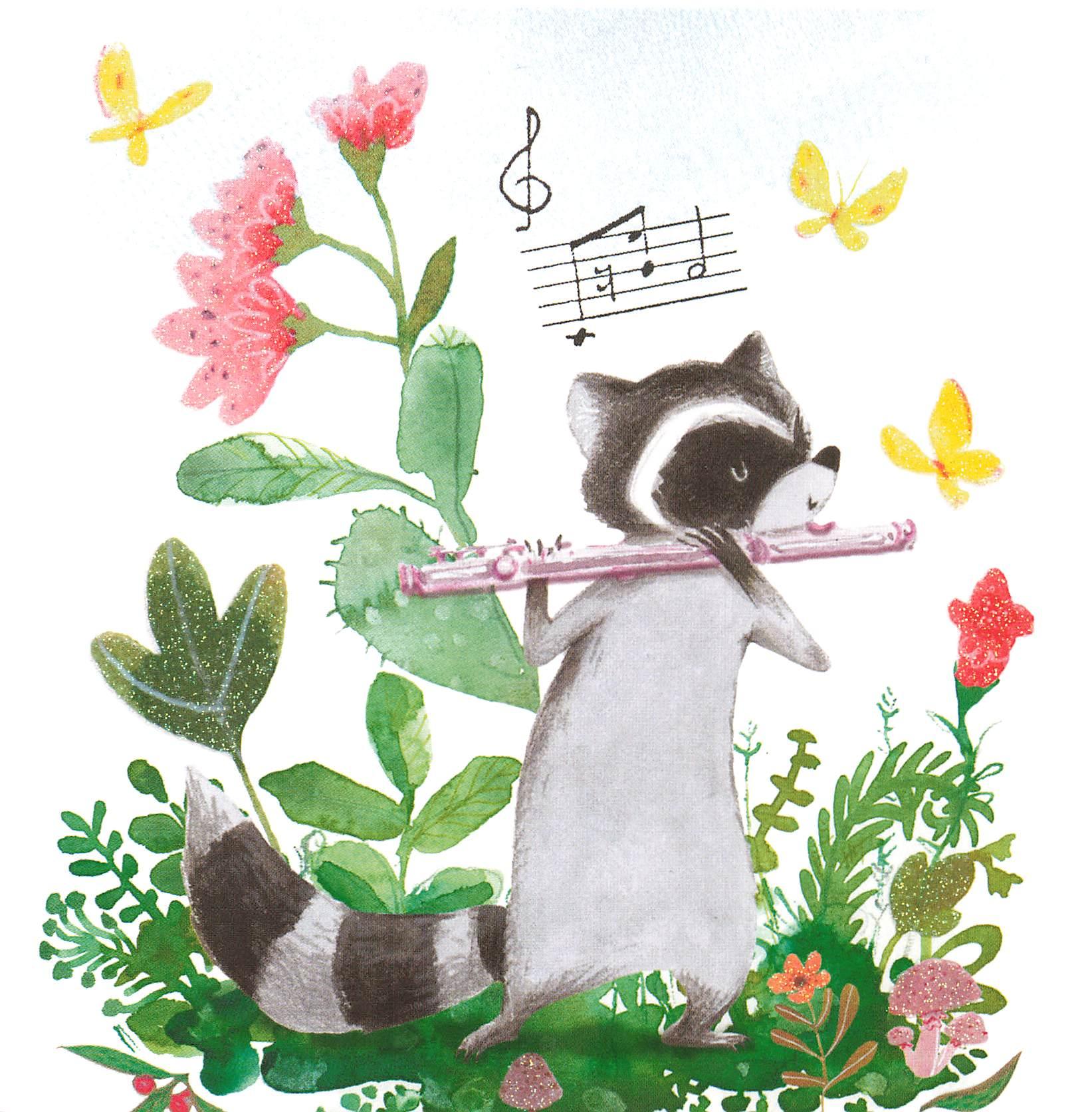 Glückwunschkarte Waschbär