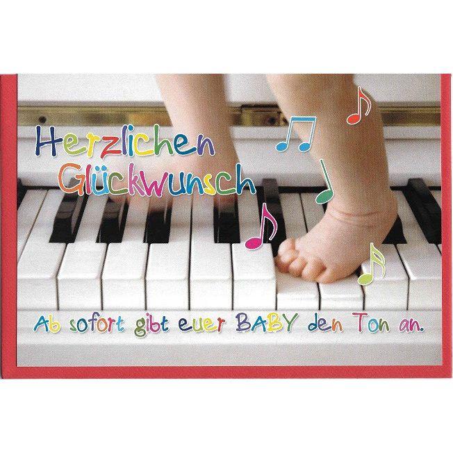 Glückwunschkarte Klavier