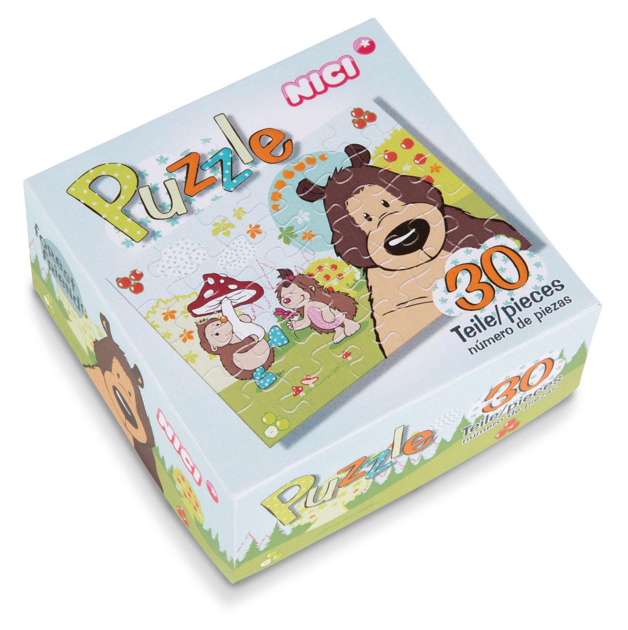 Puzzle Grizzlybär und Igel, 30 Teile