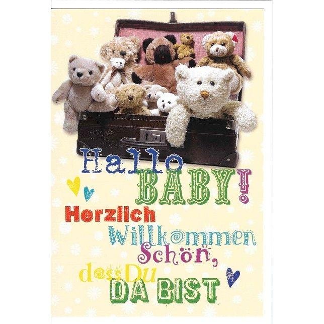 Glückwunschkarte Hallo Baby