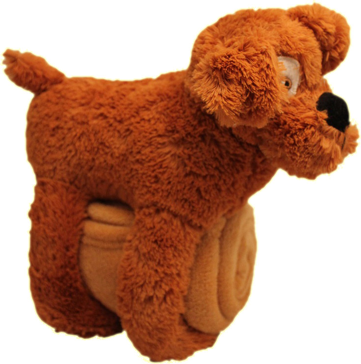 Geschenkdecke - Hund braun