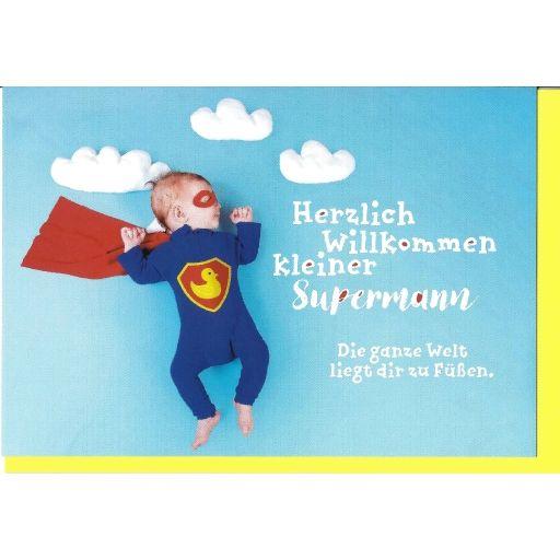 Glückwunschkarte Superman