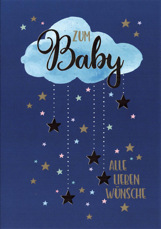 Glückwunschkarte Zum Baby alle lieben Wünsche