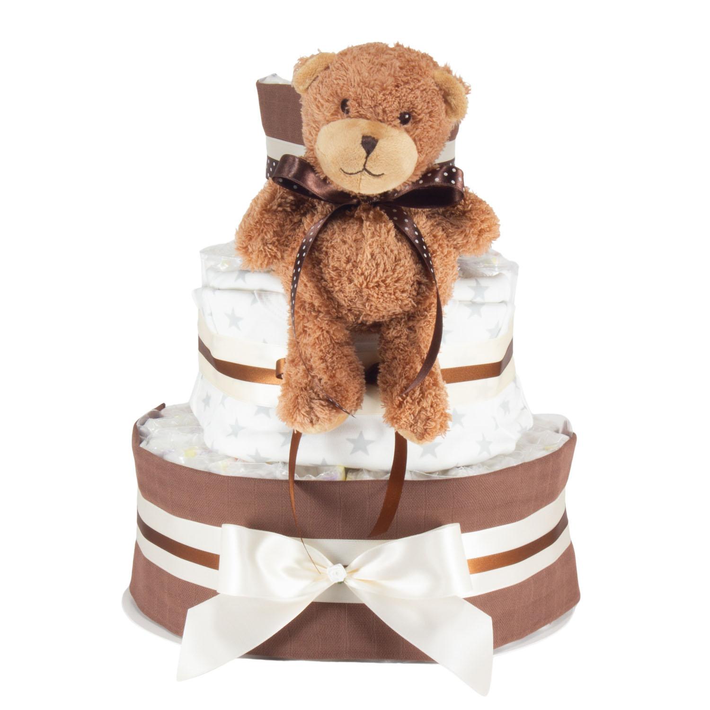 Windeltorte Wärme Mini Teddy