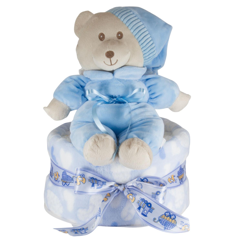 Windeltorte Soft Bär blau