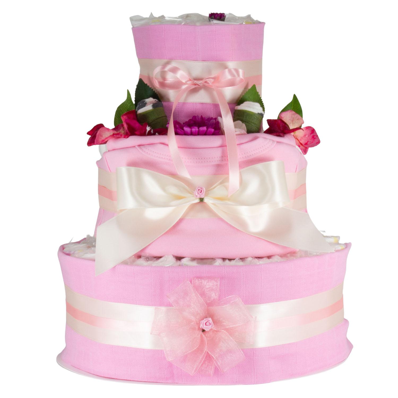 Windeltorte Grösse XL rosa